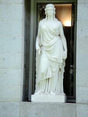 Statuary in front of the Prado