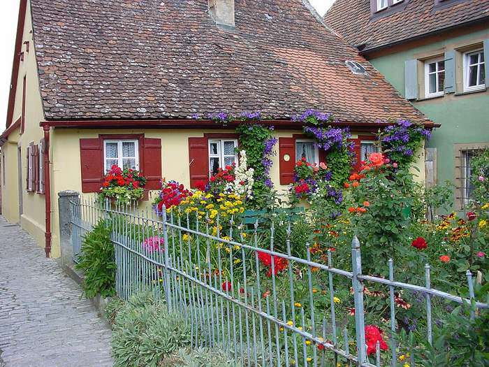 Garden in Rothenburg ob der Tauber