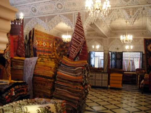 Rug shop in Meknes