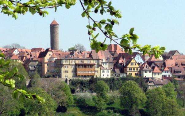 View of Rothenburg ob der Tauber