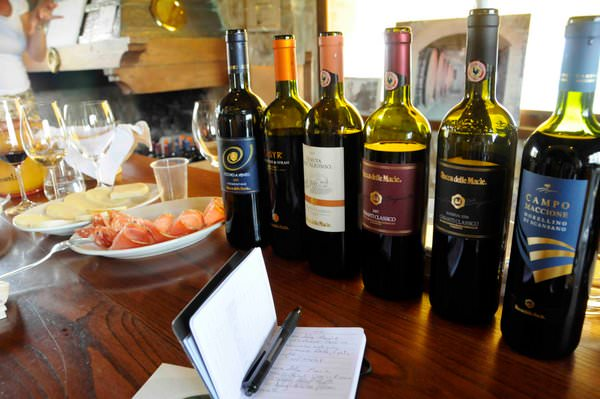 Wines I Tasted at Rocca delle Macie