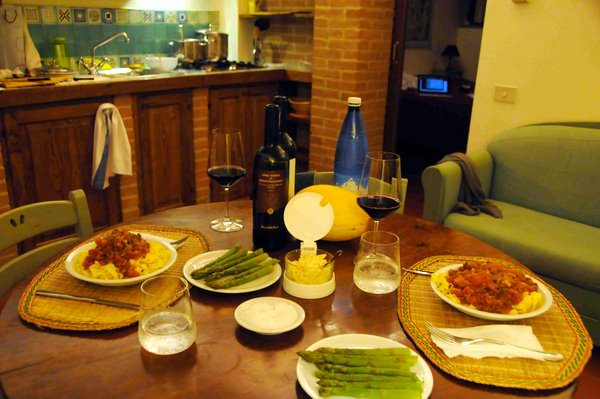 Dining in the Apartment at the Riserva di Fizzano