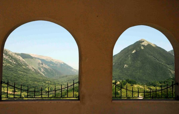 Mountains and Portico