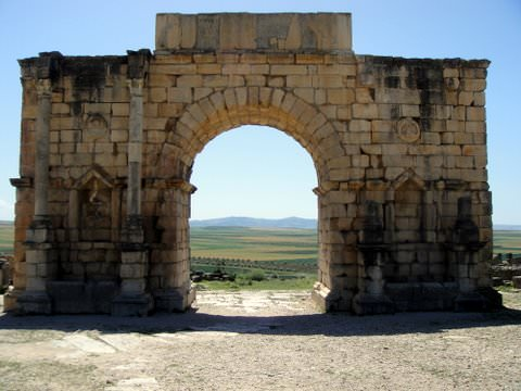 Triumphal arch, 127 C.E., built in honor of Emperor Caracalla and his mother, Julia Donna