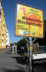 sign for the twice weekly market in Kreuzberg