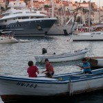 Boating in Hvar Harbor by Matt Bozigar