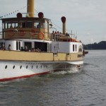 Paddle steamship on the Chiemsee