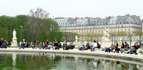 The Tuilleries in Paris' 1st Arrondissement is one of the famous Paris sites