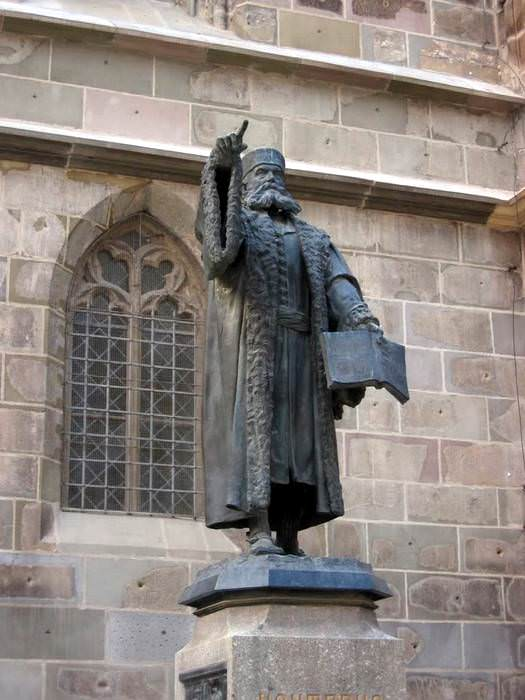 Honterus Statue - Black Church in Brasov