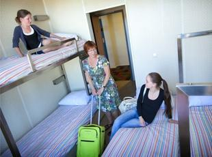 a three bed room at the StayOK hostel