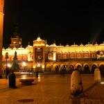 Sukiennice (the cloth Hall) at night in Krakow