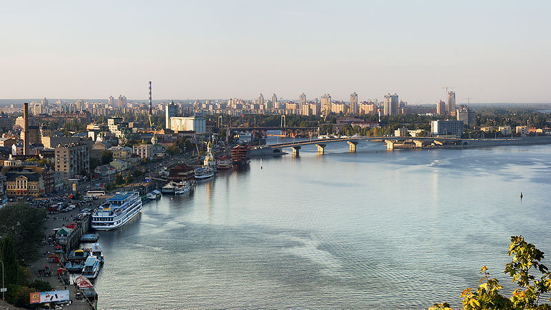 Dniepr river in Kiev