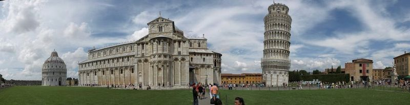 Beautiful Pisa, with its leaning tower