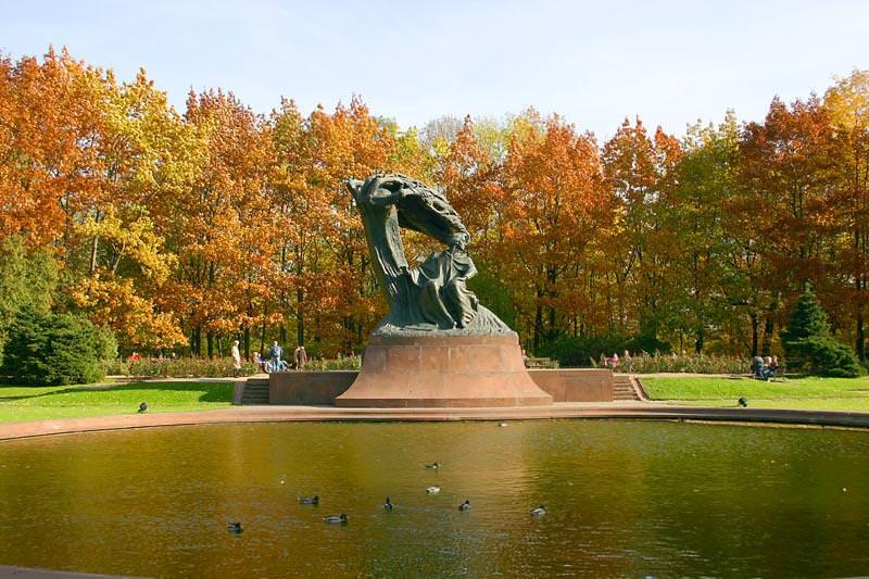 Lazienski Park in Warsaw