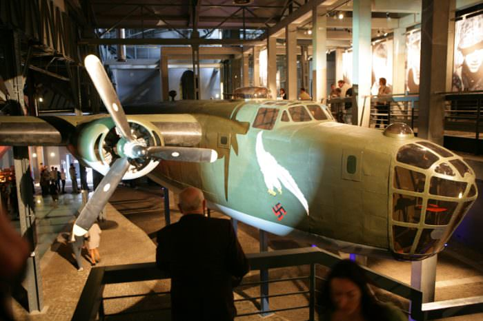 Reconstructed WWII fighter plane