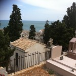 view of the Mediterranee from the Cimetiere Marin on top of Mt. Saint Clair