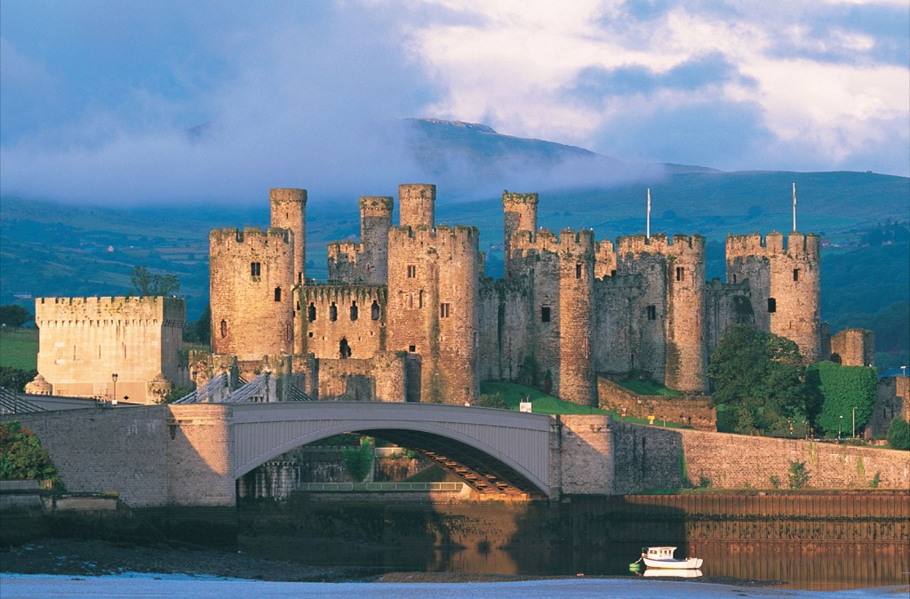 Conwy Castle Exterior, one of the most fantastic sights in Wales