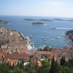 Views of Hvar Harbor from Castle