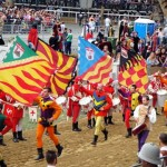 Flag Throwers at the Asti  Palio