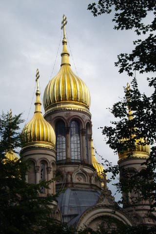 Russian church of St. Elizabeth in Wiesbaden, Germany