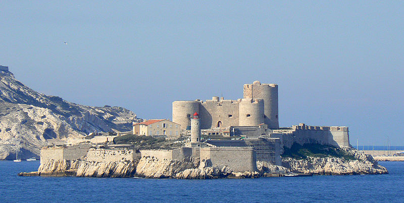 historic chateau d'If in Marseille harbor