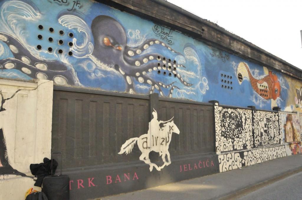 Artistic Graffiti in Zagreb