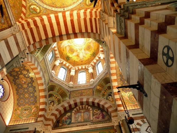 Opulent nterior of Notre Dame de la Garde in Maarseille