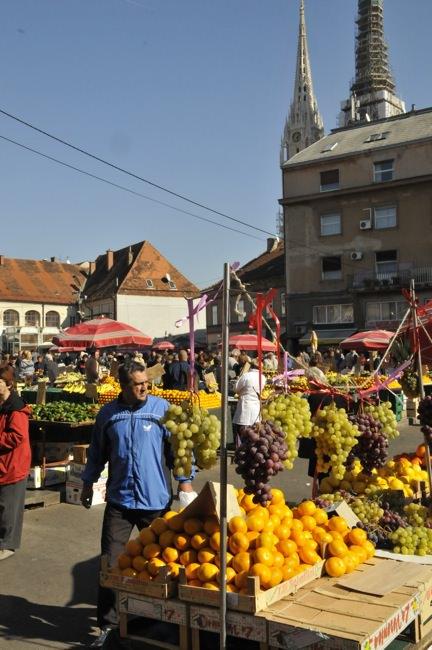 Market in Zagreb