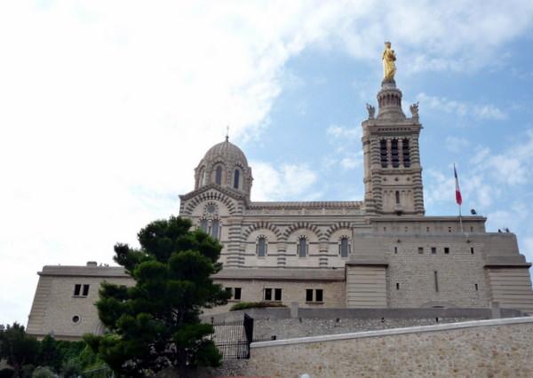 Historic Basillica Notre Dame de la Garde overlooks Marseille