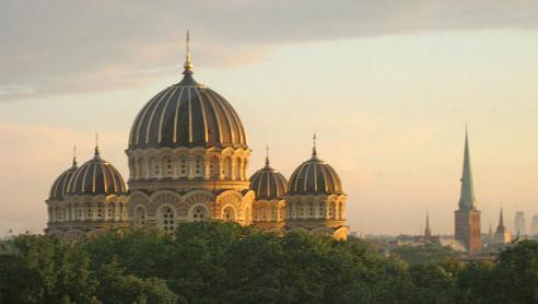 Riga's elegant, Orthodox Cathedral