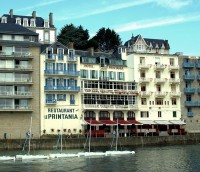 Hotel Printania in Dinard occupies four buildings and two restaurants – fine dining and a bistro below – and is next door to the ferry to St-Malo. Very friendly and comfortable.