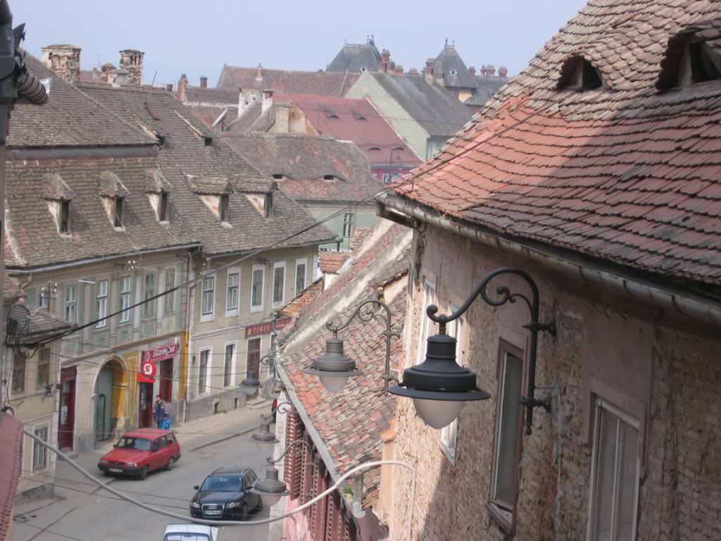look at the eyebrow windows on these Sibiu houses