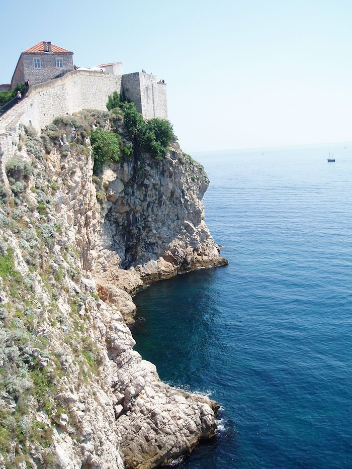 Croatia walls along the Adriatic