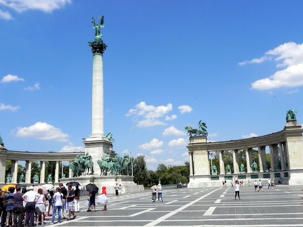 Heros Square in central Budapest