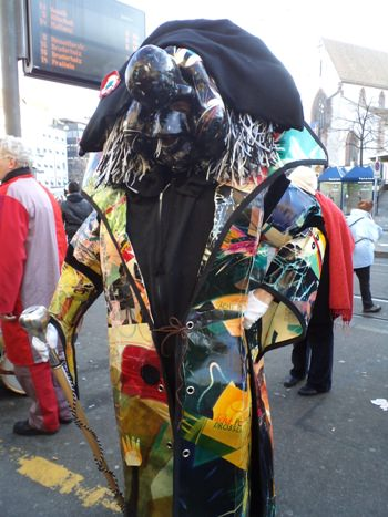 Black mask at Fasnacht