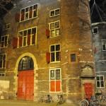 A red door in Amsterdam