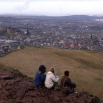The view from atop Arthur's Seat