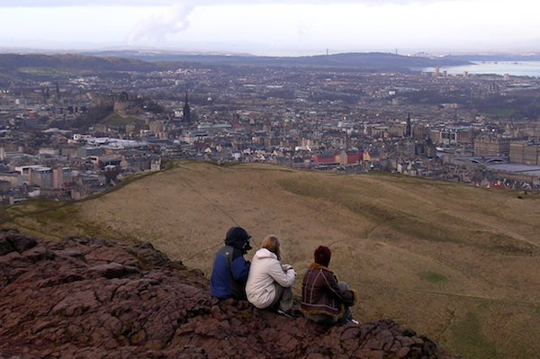 The view from atop Arthur's Seat in Edinburgh