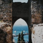 view from castle in Koroni