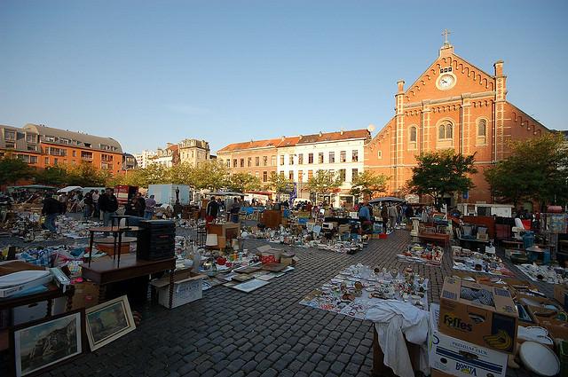Marolles Market  in Brussels by John and Melanie Kotsopoulos