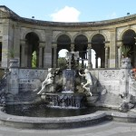 beautiful florentine sculptures at a hever castle fountain