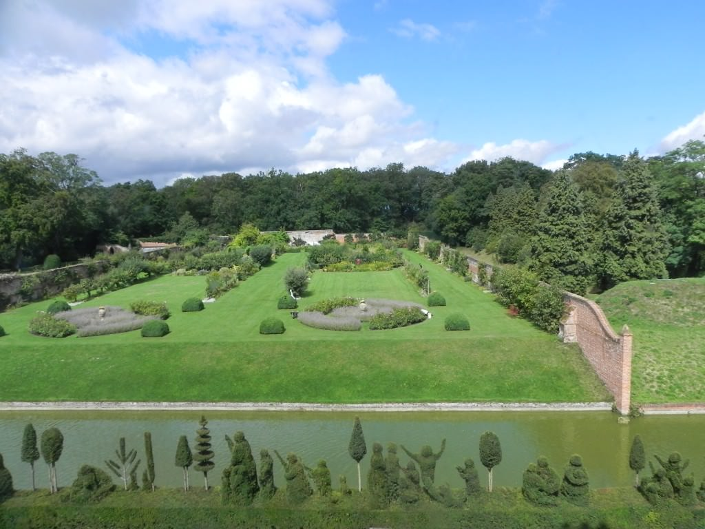 The tranquil four acre garden at Kentwell Hall