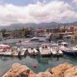 The beautiful harbour-front in Girne