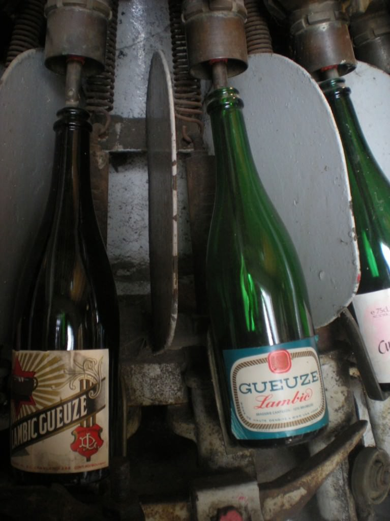 Cantillon's old bottling machines