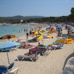Cala Bassa beach in Ibiza