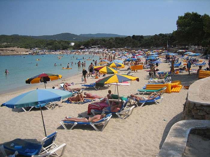 Cala Bassa beach in Ibiza