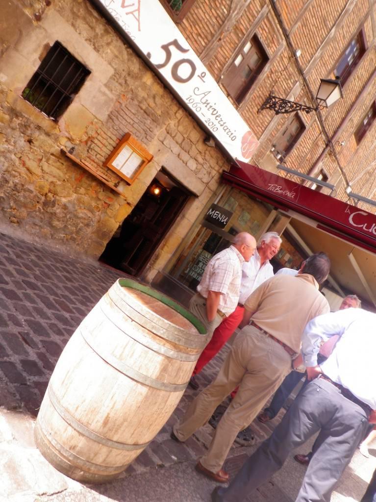 Cider barrels in San Sebastian