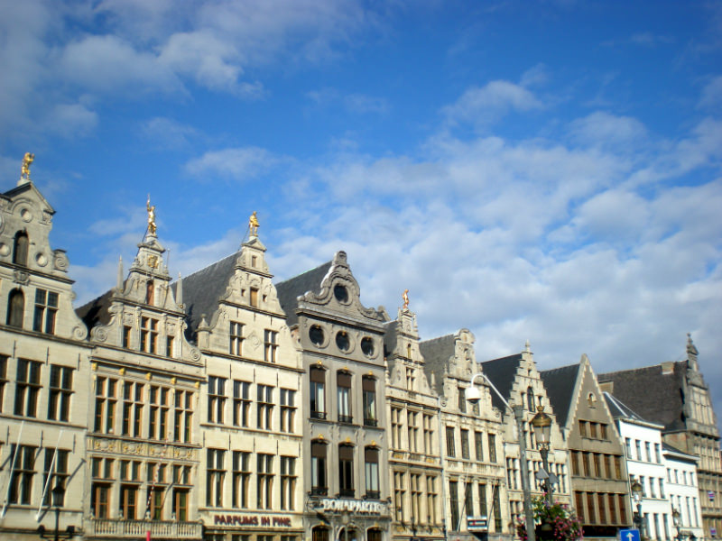 The guild houses in Antwerp's market square