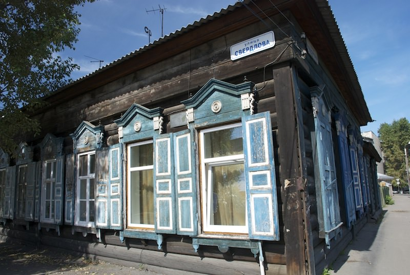 Siberian architecture in Irkutsk