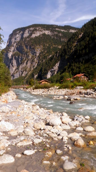 An Alpine river on the way to Stechelberg